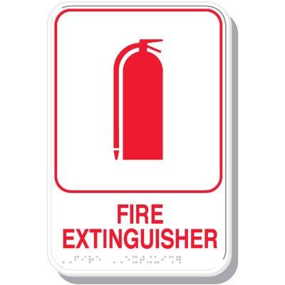 Fire Extinguisher - ADA Braille Signs