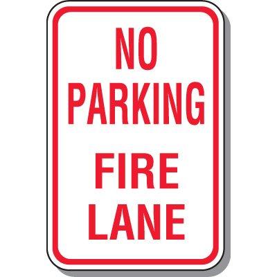 Fire Lane Signs - No Parking Fire Lane