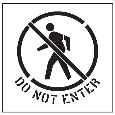 Floor Stencils - Do Not Enter