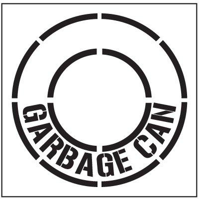 Floor Stencils - Garbage Can