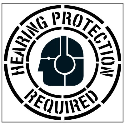 Pavement Tool Floor Stencils - Hearing Protection Required S-5513 D