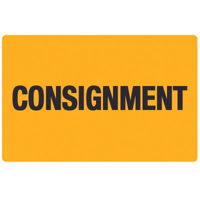 Fluorescent Warehouse & Pallet Labels - Consignment