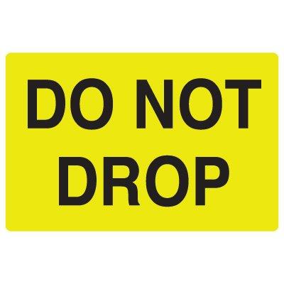 Fluorescent Warehouse & Pallet Labels - Do Not Drop