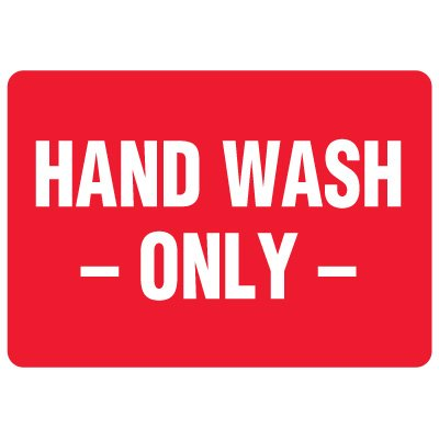 Food Industry Safety Signs - Hand Wash Only