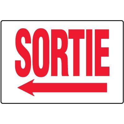 Enseignes De Sortie D'Incendie - Sortie (Flèche Gauche)