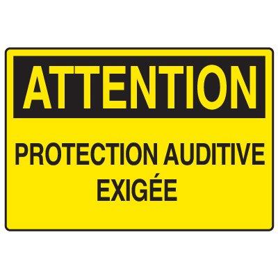 Enseignes de Sécurité - Attention Protection Auditive Exigée