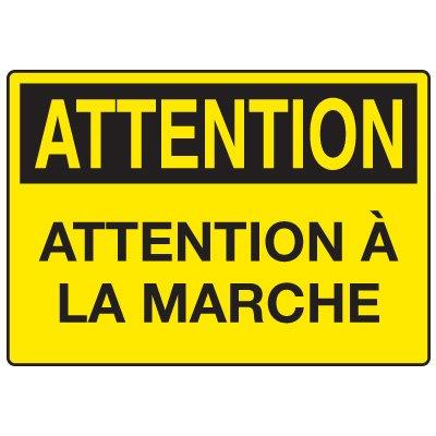 Enseignes de Sécurité - Attetion Attention A La Marche