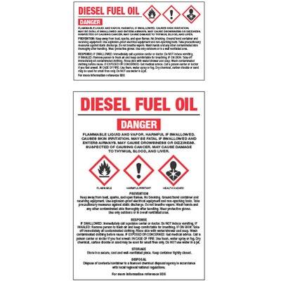 GHS Chemical Labels - Diesel Fuel Oil