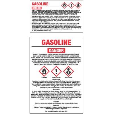 GHS Chemical Labels - Gasoline
