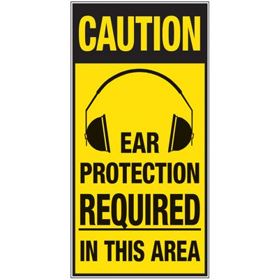 Giant Instructional Wall Graphics - Ear Protection Required