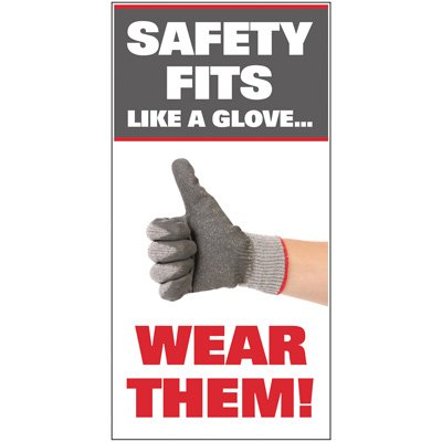 Giant Instructional Wall Graphics - Safety Fits Like A Glove