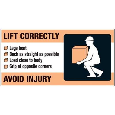Giant Motivational Wall Graphics - Lift Correctly Avoid Injury