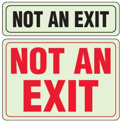 Glo Brite® Interior Decor Signs - Not An Exit