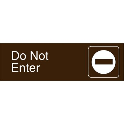 Graphic Architectural Signs - Do Not Enter