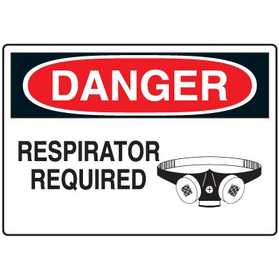 Protective Wear Signs - Danger Respirator Required
