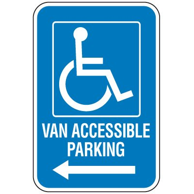 Handicap Parking Signs - Van Accessible Parking (Left Arrow)