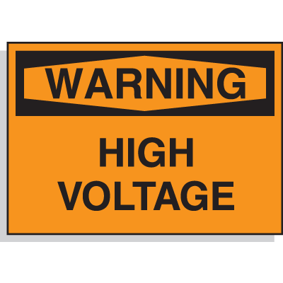 Hazard Warning Labels - Warning High Voltage