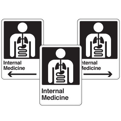 Health Care Facility Wayfinding Signs - Internal Medicine
