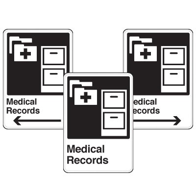 Health Care Facility Wayfinding Signs - Medical Records