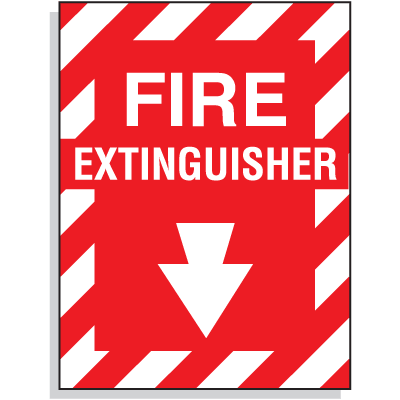 Fire Extinguisher Fiberglass Sign
