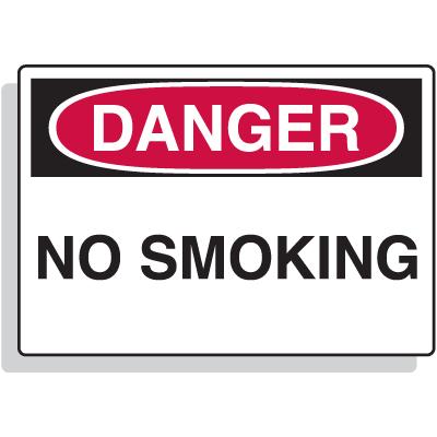 Fiberglass OSHA Sign - Danger - No Smoking