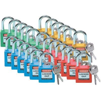Brady® High Performance Safety Padlock Sets - Keyed-Alike Padlocks