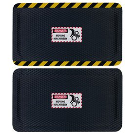 Hog Heaven Safety Message Anti-Fatigue Mats - Danger Moving Machinery