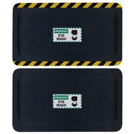 Hog Heaven Safety Message Anti-Fatigue Mats - Emergency Eye Wash