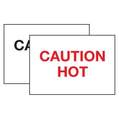 Hot Adhesion Labels - Caution Hot
