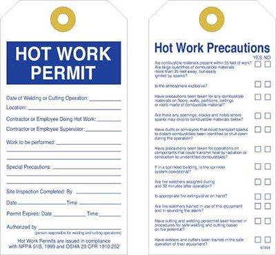 Permit Tags - Hot Work Permit