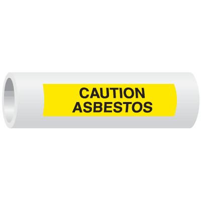 Seton Code™ Caution Asbestos Insulation Marker