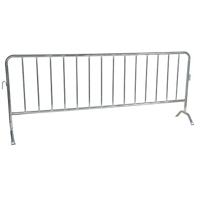 Interlocking Crowd Control Barriers With Curved Feet