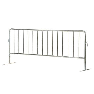 Interlocking Crowd Control Barriers With Flat Feet