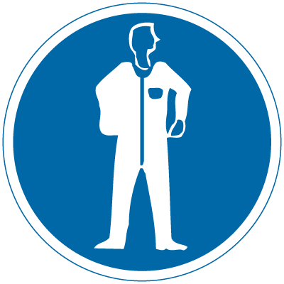 International Symbols Labels - Protective Clothing Required (Graphic)