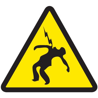 International Symbols Labels - Voltage Discharge