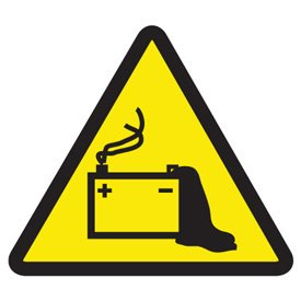 International Symbols Labels - Battery Hazard