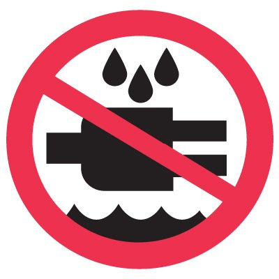 International Symbols Labels - Do Not Expose To Water