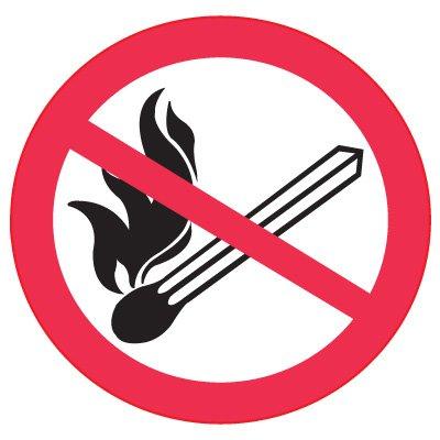 International Symbols Labels - No Fire Or Open Flames