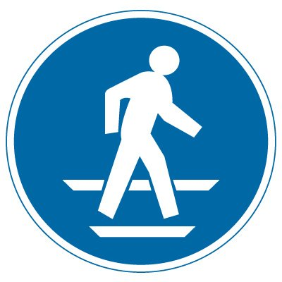 International Symbols Labels - Use Pedestrian Route (Graphic)