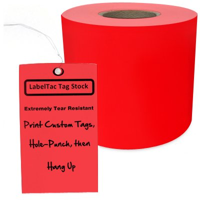 LabelTac® LT204TAG Tear-Resistant Tag Stock - Red