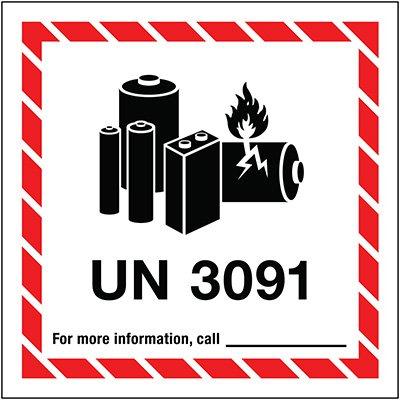 Lithium Battery Label UN3091