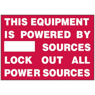 Lockout Hazard Warning Labels - This Equipment Is Powered