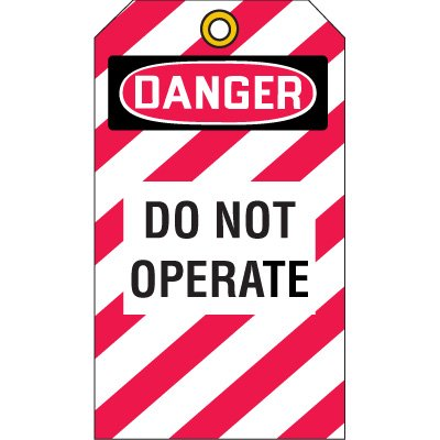 Lockout Tags - Danger Do Not Operate