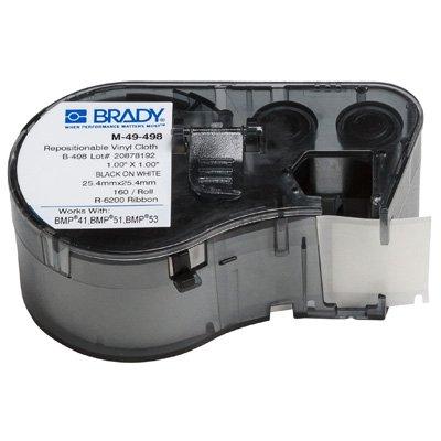 Brady M-49-498 BMP51/BMP41 Label Cartridge - Black on White