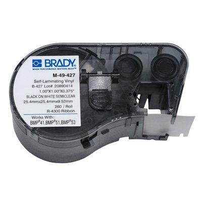 Brady M-49-427 BMP51/BMP41 Label Cartridge - Black on White/Clear