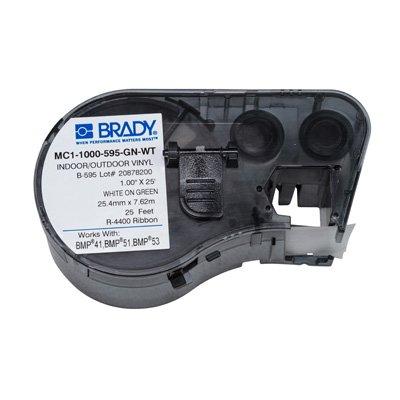 Brady MC1-1000-595-GN-WT BMP51/BMP41 Label Cartridge - White on Green