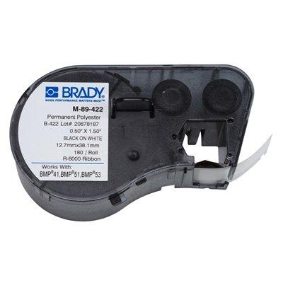 Brady M-89-422 BMP51/BMP41 Label Cartridge - Black on White