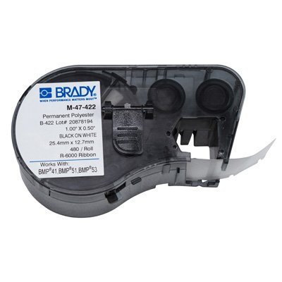 Brady M-47-422 BMP51/BMP41 Label Cartridge - Black on White