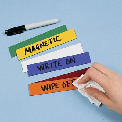 Magnetic Inventory Labels On A Roll