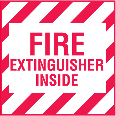 Mini Fire Extinguisher Decals - Fire Extingusiher Inside